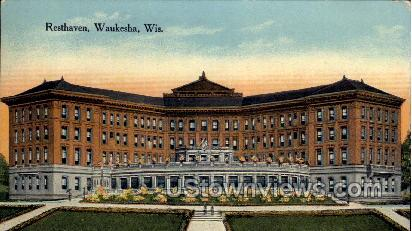 Resthaven - Waukesha, Wisconsin WI Postcard
