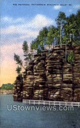 The Palisades - Wisconsin Dells Postcards, Wisconsin WI Postcard