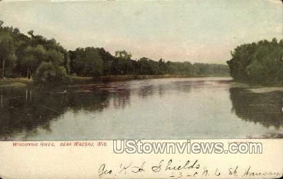 Wisconsin River - Wausau Postcard