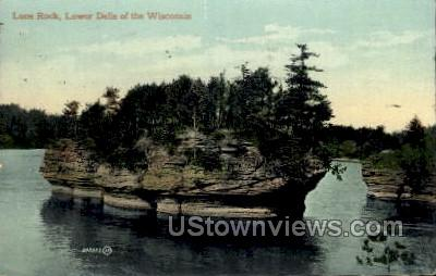 Lone Rock - Dells Of The Wisconsin Postcards, Wisconsin WI Postcard