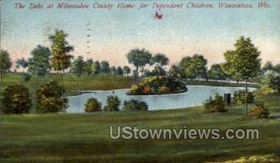 The Lake At Milwauke County Home  - Wauwatosa, Wisconsin WI Postcard