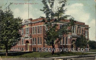 High School - Wauwatosa, Wisconsin WI Postcard