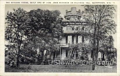 The Octagon House - Watertown, Wisconsin WI Postcard