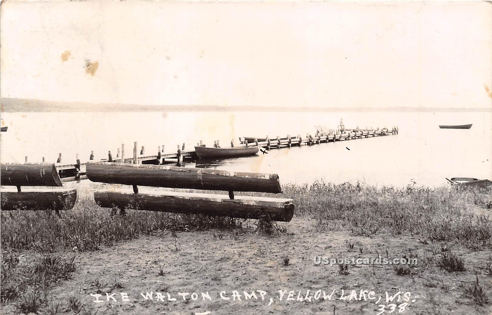 Ike Walton Camp - Yellow Lake, Wisconsin WI Postcard