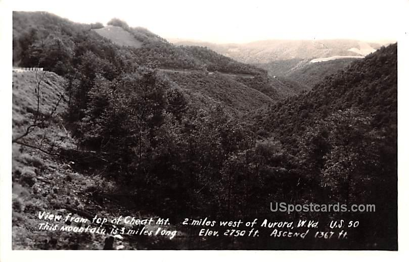 View from top of Cheat Mountain - Aurora, West Virginia WV Postcard