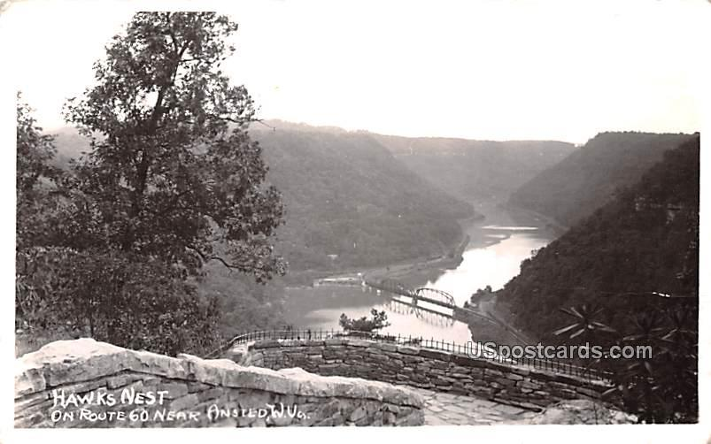Hawk's Nest - Ansted, West Virginia WV Postcard