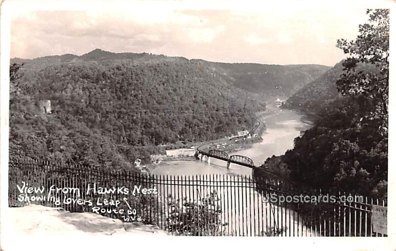 View from Hawks Nest - Ansted, West Virginia WV Postcard
