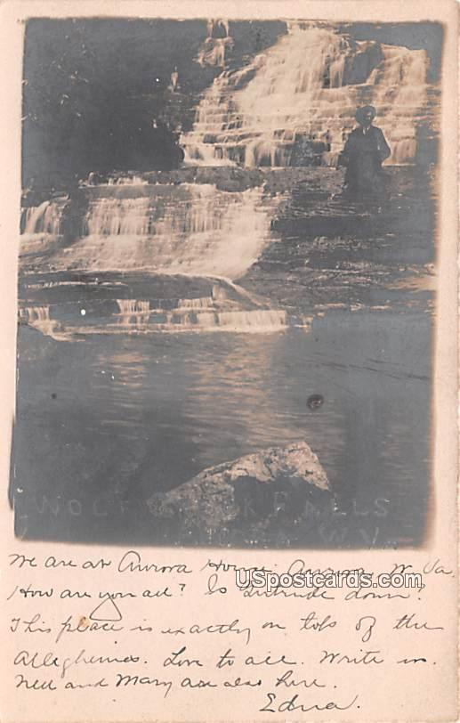 Wolf Creek Falls - Aurora, West Virginia WV Postcard
