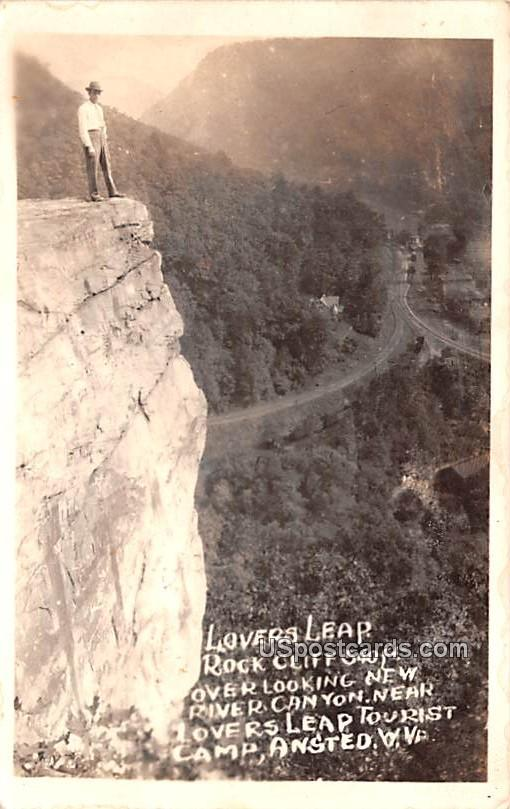 Lovers Leap - Ansted, West Virginia WV Postcard
