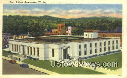 Post Office - Charleston, West Virginia WV Postcard