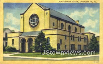 First Christian Church - Charleston, West Virginia WV Postcard