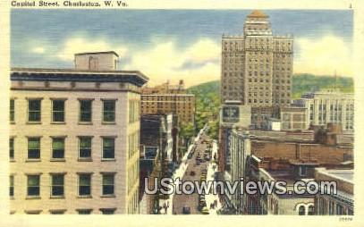 Capitol Street - Charleston, West Virginia WV Postcard