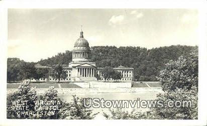 Real Photo - West Virginia State Capitol - Charleston Postcard