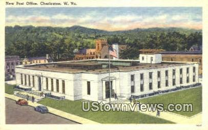New Post Office - Charleston, West Virginia WV Postcard