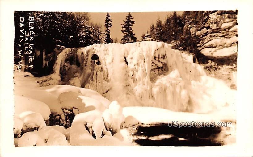 Black Water Falls - Davis, West Virginia WV Postcard
