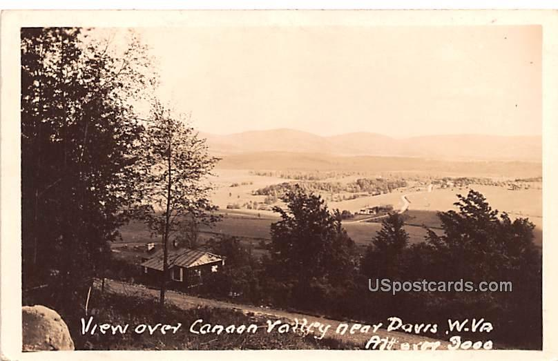 View Over Cannon Valley - Davis, West Virginia WV Postcard
