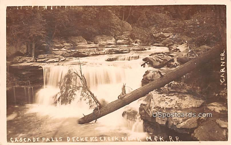 Cascade Falls - Deckers Creek, West Virginia WV Postcard
