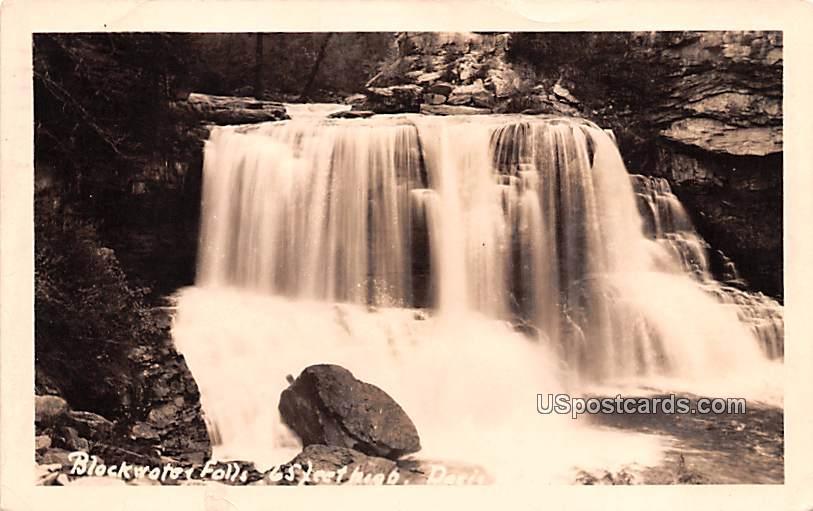 Blockwater Falls - Davis, West Virginia WV Postcard