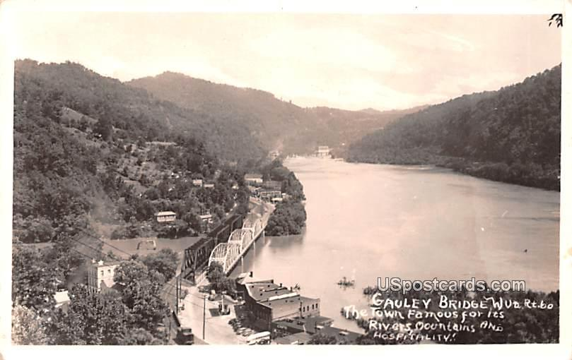 Town Famous for its Rivers, Mountains, and Hospitality - Gauley Bridge, West Virginia WV Postcard