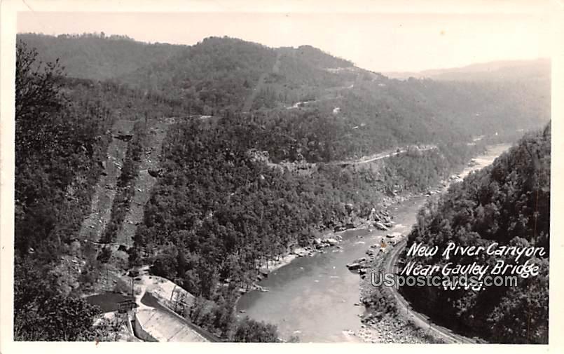 New River Canyon - Gauley Bridge, West Virginia WV Postcard
