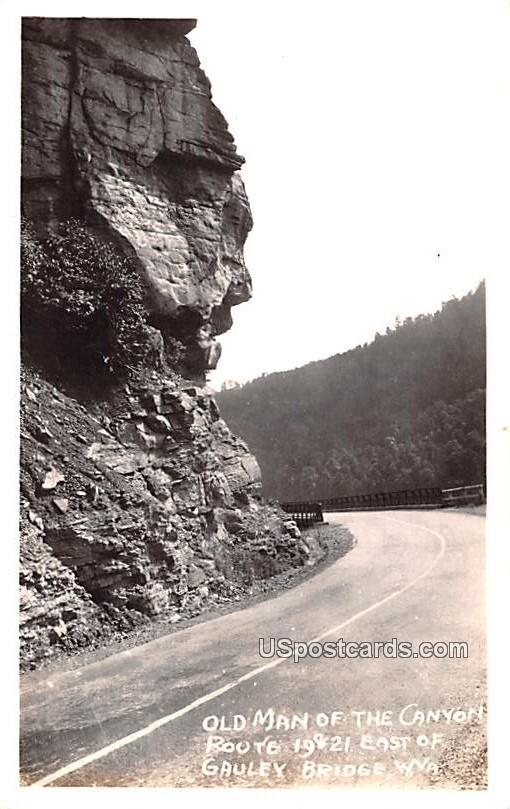 Old Man of the Canyon - Gauley Bridge, West Virginia WV Postcard