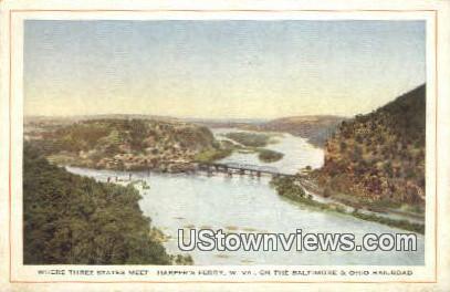 Baltimore & Ohio RR - Harpers Ferry, West Virginia WV Postcard