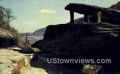 Jefferson Rock - Harpers Ferry, West Virginia WV Postcard