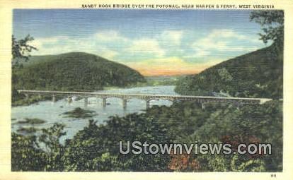 Sandy Hook Bridge, Potomac - Harpers Ferry, West Virginia WV Postcard