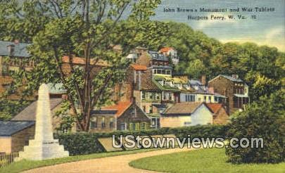 John Brown's Monument & War Tablets - Harpers Ferry, West Virginia WV Postcard