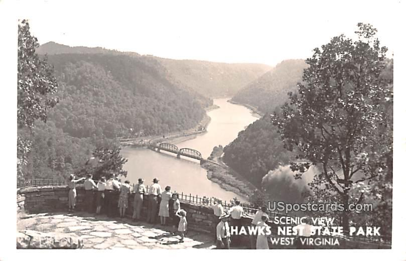 Scenic View - Hawks Nest State Park, West Virginia WV Postcard