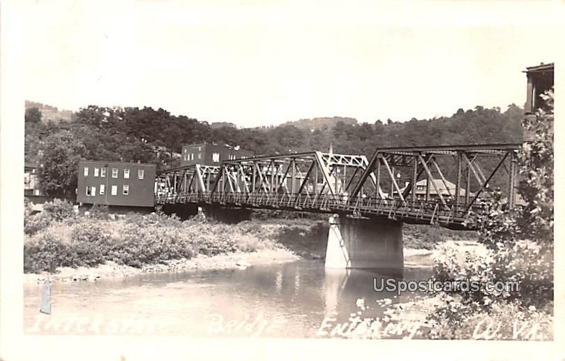 Interstate Bridge Entering - West Virginia WV Postcard
