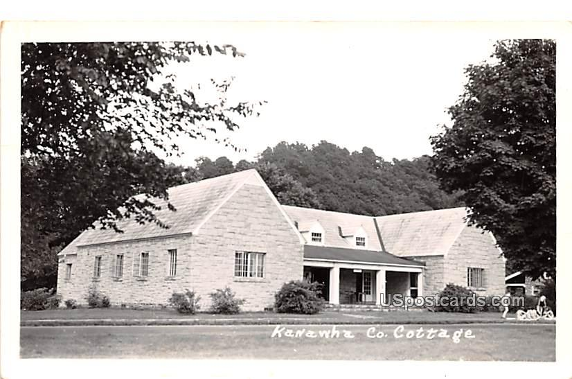 Kanawha County Cottage - Jackson Mills, West Virginia WV Postcard