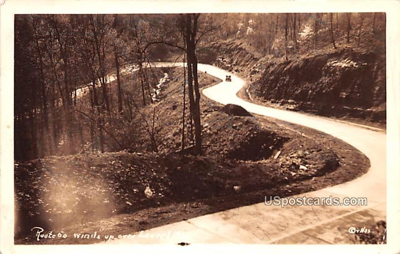 Route 50 Winds over Laurel Mountain - West Virginia WV Postcard