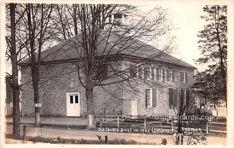 Old Church Built in 1792 - Lewisburg, West Virginia WV Postcard