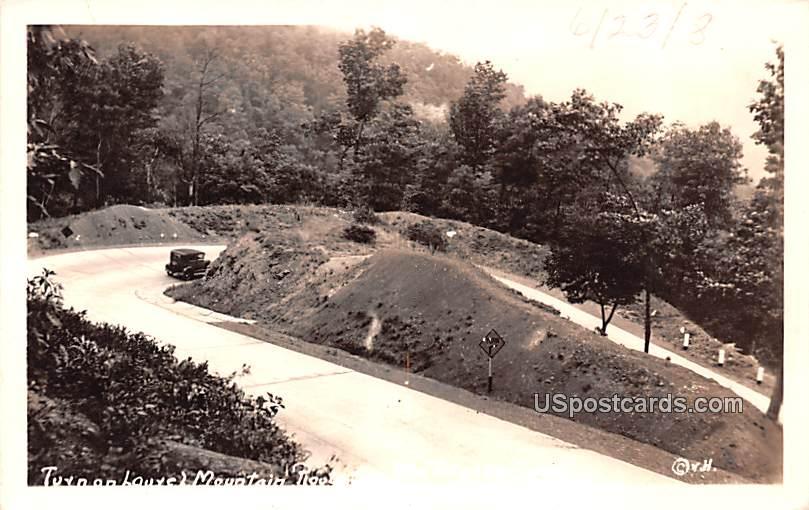 Turn on Laurel Mountain Road - West Virginia WV Postcard