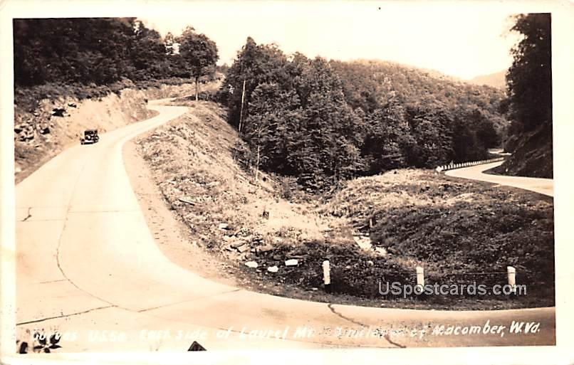 Curves US 50 - Macomber, West Virginia WV Postcard