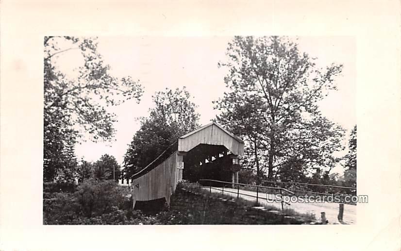 Covered Bridge - MIsc, West Virginia WV Postcard