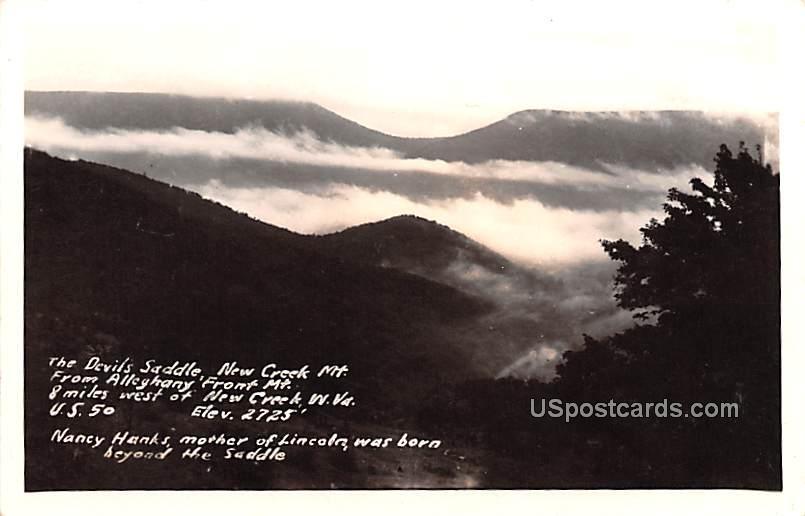 Devils Saddle, New Creek Mountain - West Virginia WV Postcard