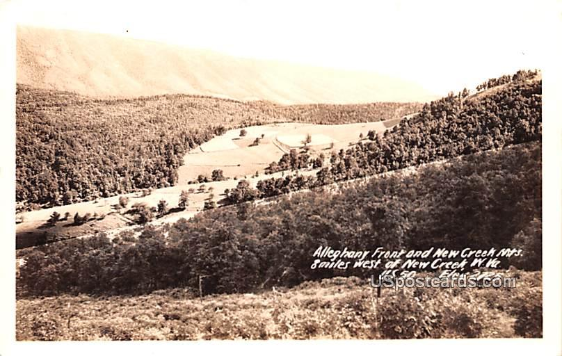 Alleghany Front and New Creek Mountains - West Virginia WV Postcard