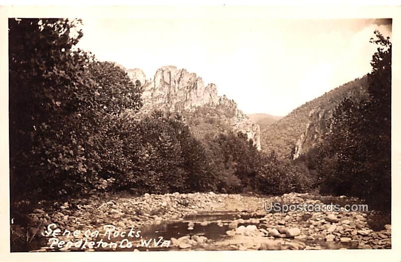 Seneca Rocks Route 5 - Pendleton County, West Virginia WV Postcard