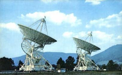 Radio Telescopes  - Green Bank, West Virginia WV Postcard