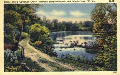 Opequon Creek - Shepherdstown, West Virginia WV Postcard