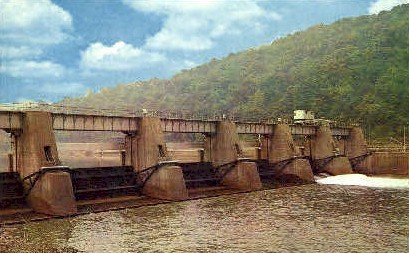 Monongahela River  - Morgantown, West Virginia WV Postcard