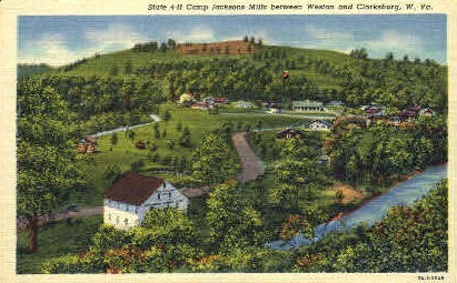 Camp Jacksons Mills  - Weston, West Virginia WV Postcard