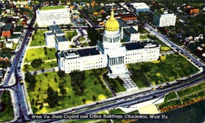 State Capitol & Office Buildings  - Charleston, West Virginia WV Postcard