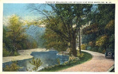 Wellsburg & Bethany Pike  - Wheeling, West Virginia WV Postcard