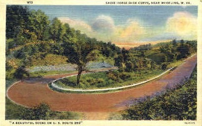 Cadiz Horse-Shoe Curve  - Wheeling, West Virginia WV Postcard