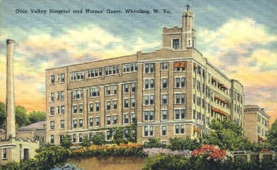 Ohio Valley Hospital - Wheeling, West Virginia WV Postcard