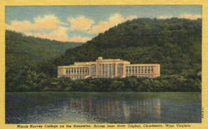 Morris Harvey College  - Charleston, West Virginia WV Postcard