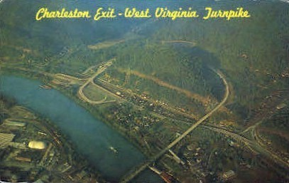 Charleston Exit  - West Virginia WV Postcard